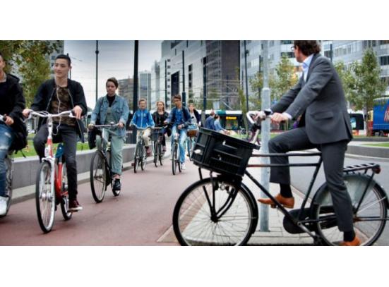 Werknemers in Twente vaker op de fiets
