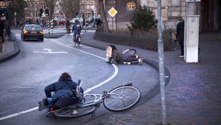 Minder fietsers slachtoffer van gladheid