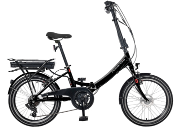 HOLLANDIA FOLDER E-BIKE VOUWFIETS DER6 BLACK