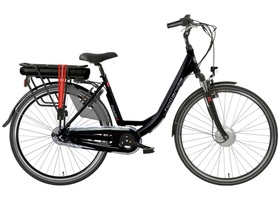 HOLLANDIA MOBILIT-E N3 E-BIKE BLACK RED